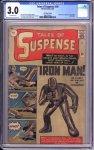 Tales of Suspense #39 (UK Price Variant) CGC 3.0